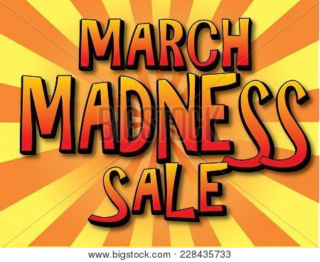 March Madness Sale With Bright Banner Poster