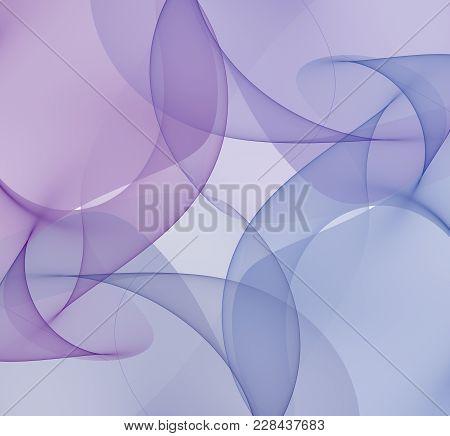 Bright Abstract Fractal Blue Veil Of Fantasy, Fractal Waves Fantasy