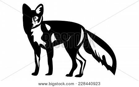 Fox Animal Forest Black Cheat Stencil Nature Tail Tricky