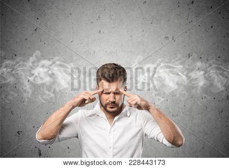 Young Head Man Headache Person Human One