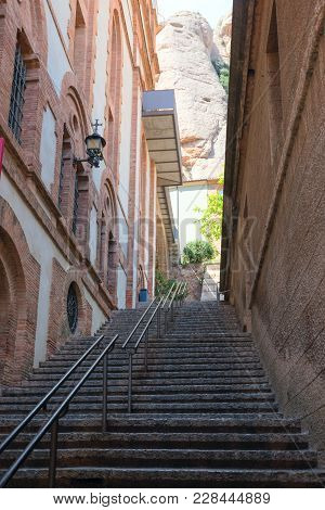 Entrance To The Benedictine Monastery Of The Monastery Of Santa Maria De Montserrat, Mount Montserra