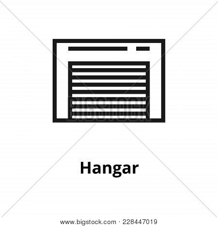 Hangar Thin Line Icon. Icon For User Interface And Web
