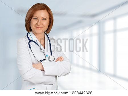 Female Doctor Doc Color White Background Beautiful