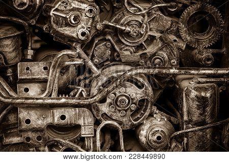 Old Machine Steel,vintage Spare Part, Industry Concept