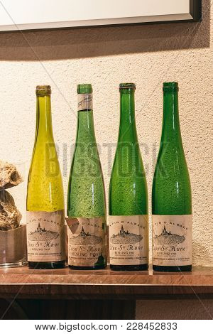 Collection Of Bottles In The Tasting Room
