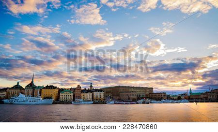 Panorama photo of Stockholm City