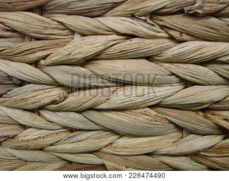 A Full Page Of Woven Reeds Basket Texture
