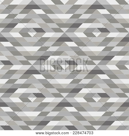 Abstract Geometric Patern With Rhombuses. A Seamless Vector Background. Grey Texture. Graphic Modern