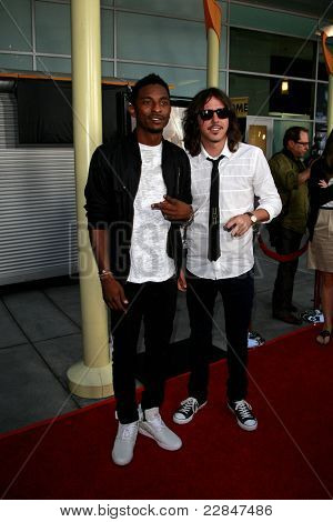 LOS ANGELES - SEP 3: Aaron Smith and Cisco Adler at the premiere of 'Sorority Row' held at the Arclight in Los Angeles, California on September 3, 2009
