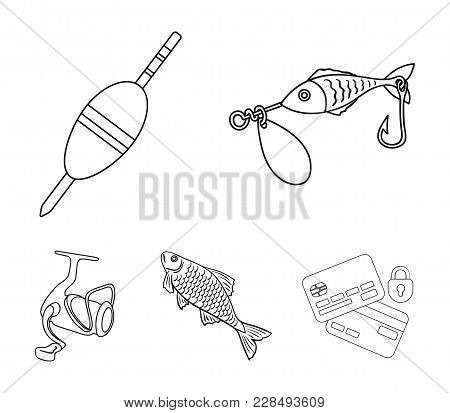 Fishing, Fish, Catch, Hook .fishing Set Collection Icons In Outline Style Vector Symbol Stock Illust