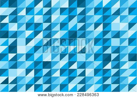 Blue Geometric Shape Abstract Background Vector Design.