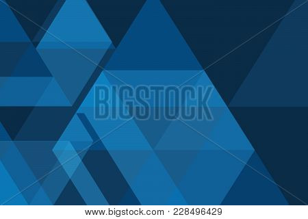 Blue Geometric Abstract Shape Background Vector Design.