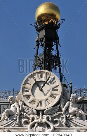 Clock Detail On Building