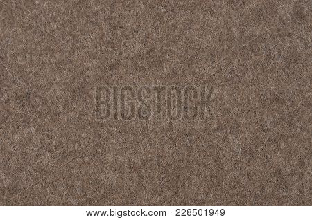 Close Up Of Brown Synthetical Felt Textured Background