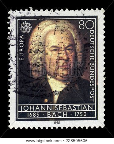 Germany - Circa 1985: A Stamp Printed In The Germany Shows Portrait Johann Sebastian Bach Was A Germ