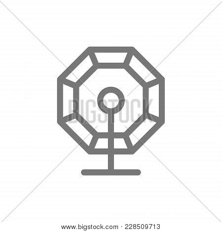 Simple Lottery Bingo And Lotteries Line Icon. Symbol And Sign Vector Illustration Design. Isolated O