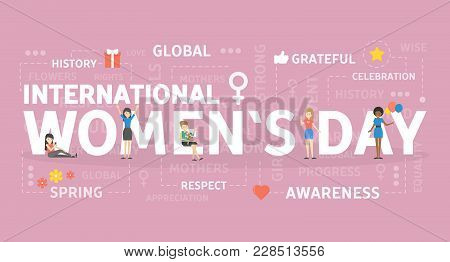 International Womens Day. Holiday For Women Of All Types.