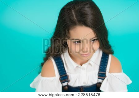 Hairstyle Kid Model On Blue Background. Hairstyle, Hair Style, Hairstyling, Style, Hairdressing, Bea