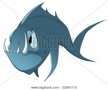 Cartoon Character Fish poster