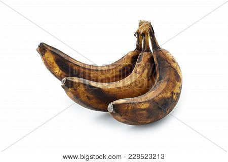 Spoiled Banana Isolated On A White Background