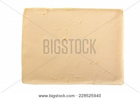 Piece Of Cooking Butter Isolated Over The White Background.