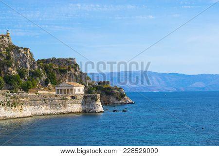 Old Fortress In Corfu Town, Kerkyra Island , Greece
