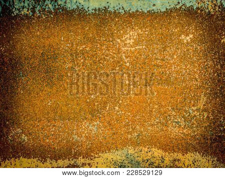 Eroded Metal Texture, Rust Abstract Grunge Background