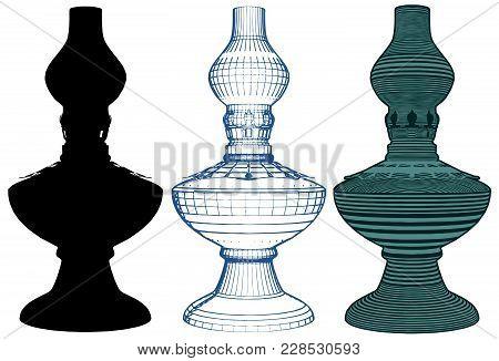 Petroleum Lamp Illustration Isolated On White Background Vector