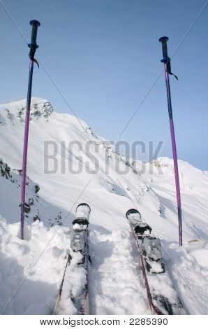 Skie And Ski Pole