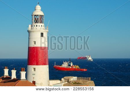 The Europa Point Lighthouse, Also Known As The Trinity Lighthouse At Europa Point Is On The Southeas