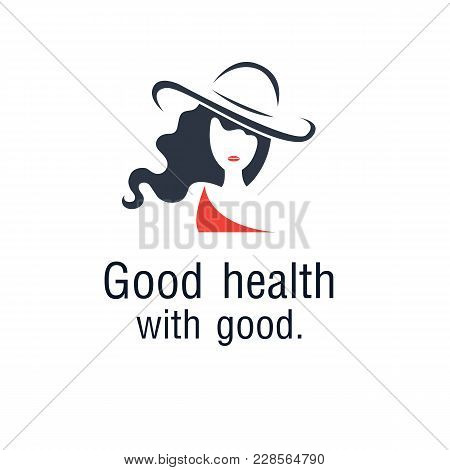 Good Health With Good Woman Hat Background Vector Image