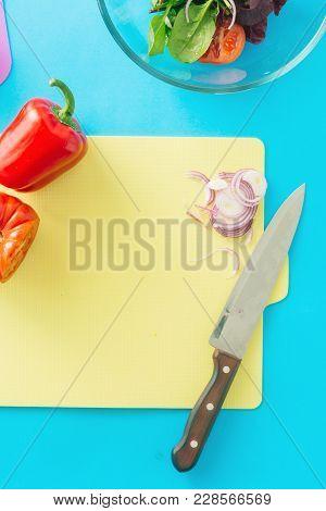 Healthy Food Background Biodynamic Ingredients Cooking Summer Salad