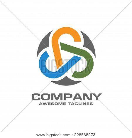Abstract Circle Network Technology Logo, Vector Unique Abstract Circle Logo Template Concept Illustr
