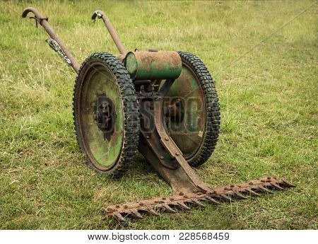 Vintage Mower For Cutting Crop And Grass..