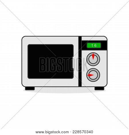 Microwave Kitchen Appliance Vector Illustration Graphic Design