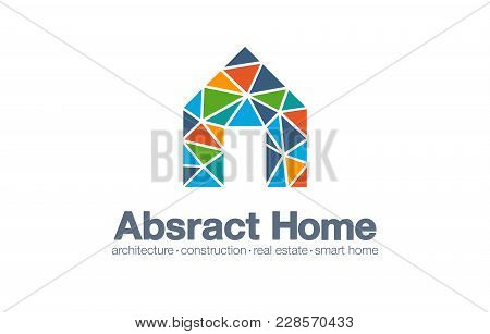 Abstract Business Company Logo. Corporate Identity Design Element. Smart Home, Architecture Building