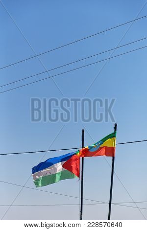 Waving In The Sky The Colorful Flag