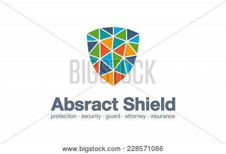 Abstract Business Company Logo. Corporate Identity Design Element. Protection, Defense, Cyber Securi