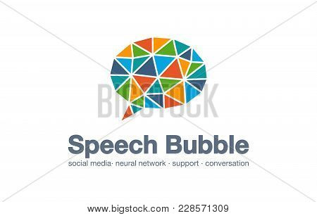 Abstract Business Company Logo. Corporate Identity Design Element. Social Media Market, Network, Spe