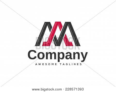 Creative Letter Am Logo Design Template Elements. Simple Letter Am Letter Logo,business Corporate Le