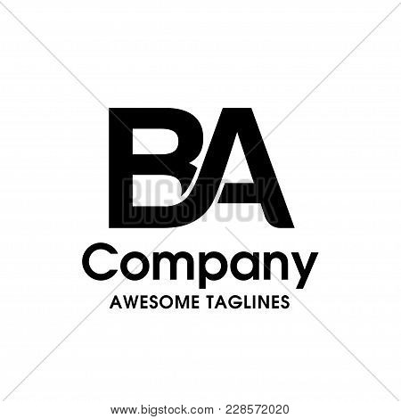 Creative Letter Ba Logo Design Elements. Simple Letter Ba Letter Logo,business Corporate Letter Ba L