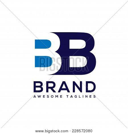 Creative Letter Bb Logo Design Black And White Logo Elements. Simple Letter Bb Letter Logo,business