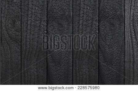 Charred Siding Black Wood Texture Or Background