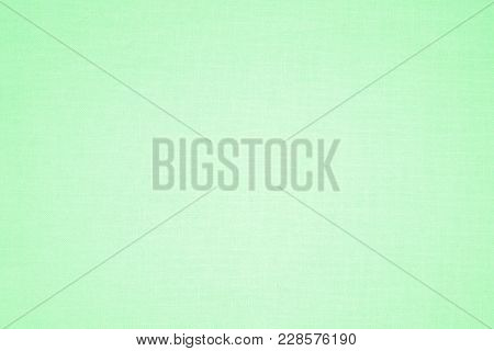 Pastel Green Canvas Fabric Texture Or Background