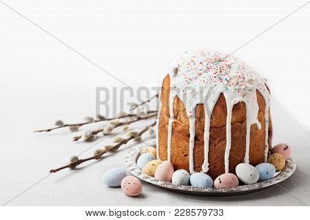 Traditional Russian Orthodox Easter Bread - Kulich