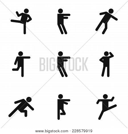 Physical Activity Icons Set. Simple Set Of 9 Physical Activity Vector Icons For Web Isolated On Whit