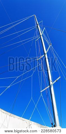 The Concept Of Navigation And Wind Speed With  Sailing