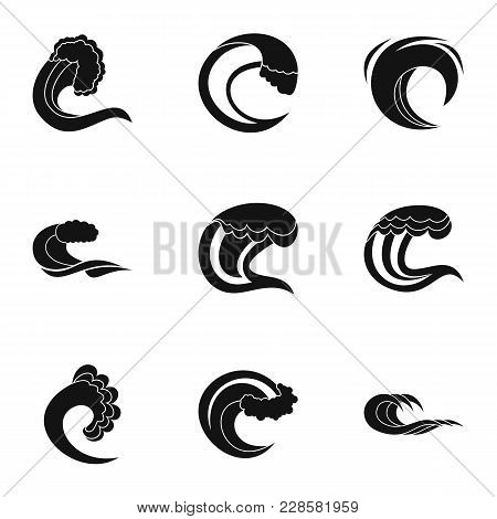 Water Content Icons Set. Simple Set Of 9 Water Content Vector Icons For Web Isolated On White Backgr