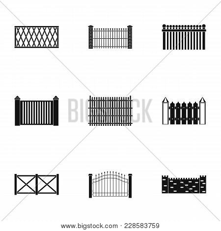 Entrance Icons Set. Simple Set Of 9 Entrance Vector Icons For Web Isolated On White Background