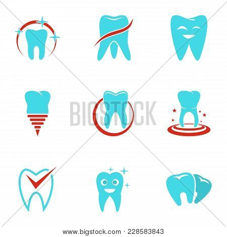 Polyclinic Icons Set. Flat Set Of 9 Polyclinic Vector Icons For Web Isolated On White Background